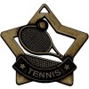 60mm Bronze Mini Star Tennis Medal