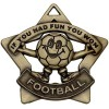 60mm Mini Star Football Bronze Medal