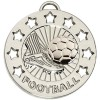 40mm Silver Spectrum Football Medal