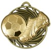 50mm Gold Boot & Ball detail Football Vortex Medal