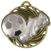 Silver Boot & Ball detail Football Vortex Medal