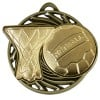 50mm Gold Ball & net Netball Vortex Medal
