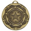 50mm Bronze Star Flower Target Medal