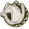 50mm Silver Horse Head & Shoe Horse Riding Vortex Medal