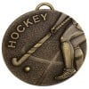 50mm Bronze Stick Hockey Target Medal