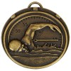 50mm Bronze Front Crawl Swimming Target Medal