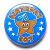 1 Inch Birthday Boy Pin Badge