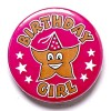 1 Inch Birthday Girl Pin Badge