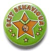 1 Inch Best Behaviour Pin Badge