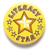 1 Inch Literacy Star Pin Badge