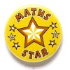 1 Inch Maths Star Pin Badge