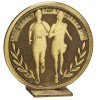 60mm Free Standing Bronze Running Global Medal