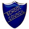 22 x 25mm Blue School Council Shield Lapel Badge