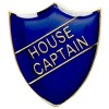 Blue House Captain Shield Lapel Badge