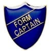 22 x 25mm Blue Form Captain Shield Lapel Badge