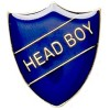 22 x 25mm Blue Head Boy Shield Lapel Badge