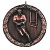50mm Bronze Laurel Rugby Medal