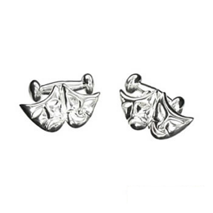 Sterling Silver Theatre And Drama Cufflinks