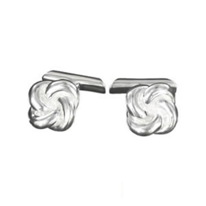 Sterling Silver Celtic Knot Bar Cufflinks