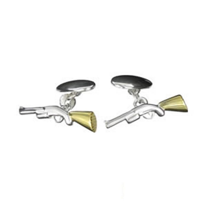 Sterling Silver Rifle Cufflinks