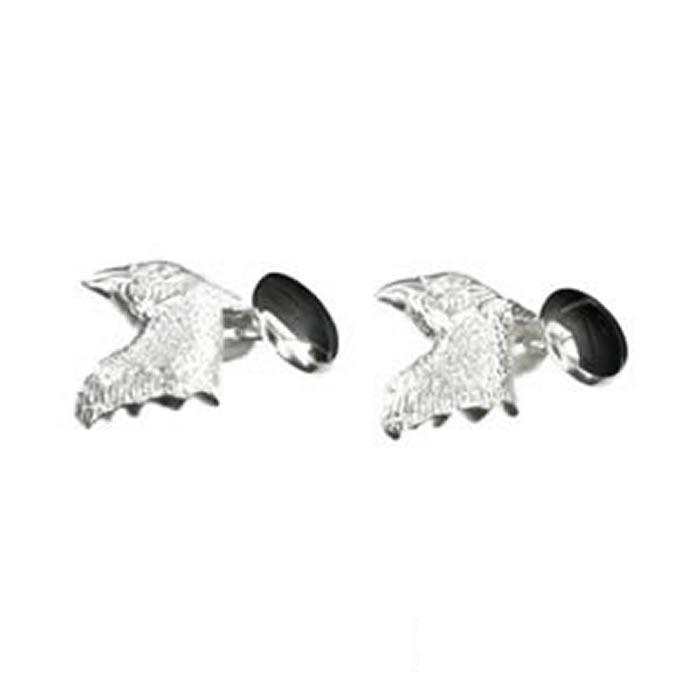 Sterling Silver Birds Head Cufflinks