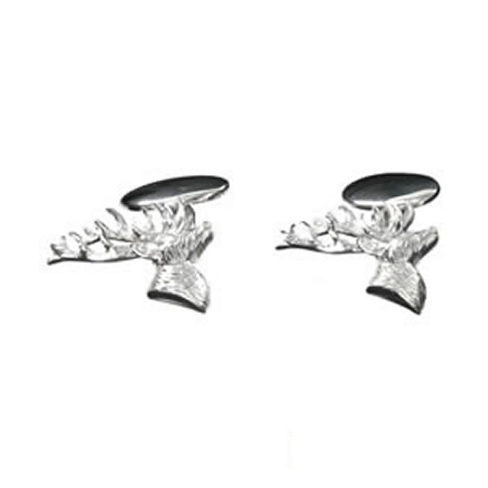 Sterling Silver Stags Head Cufflinks