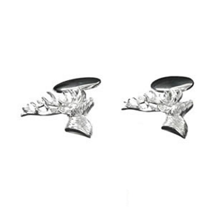 Sterling Silver Stags Head Cufflinks