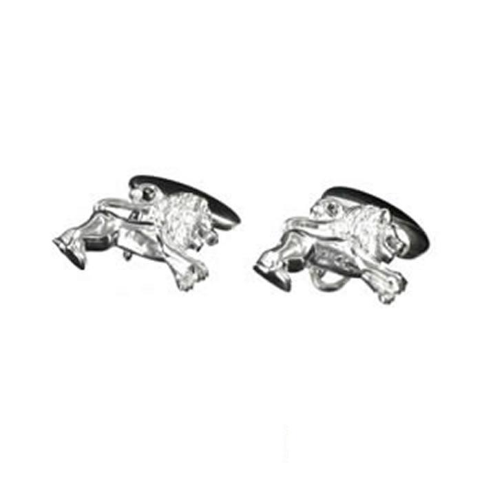 Sterling Silver Lions Cufflinks
