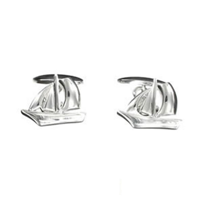 Sterling Silver Ship To The Yacht Cufflinks