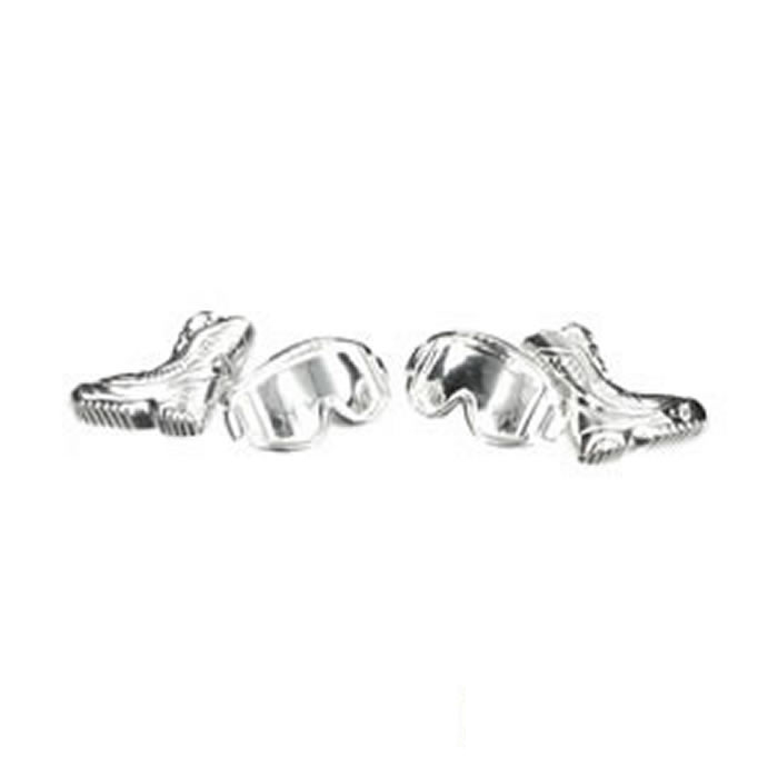 Sterling Silver Snowboarders Boot Cufflinks