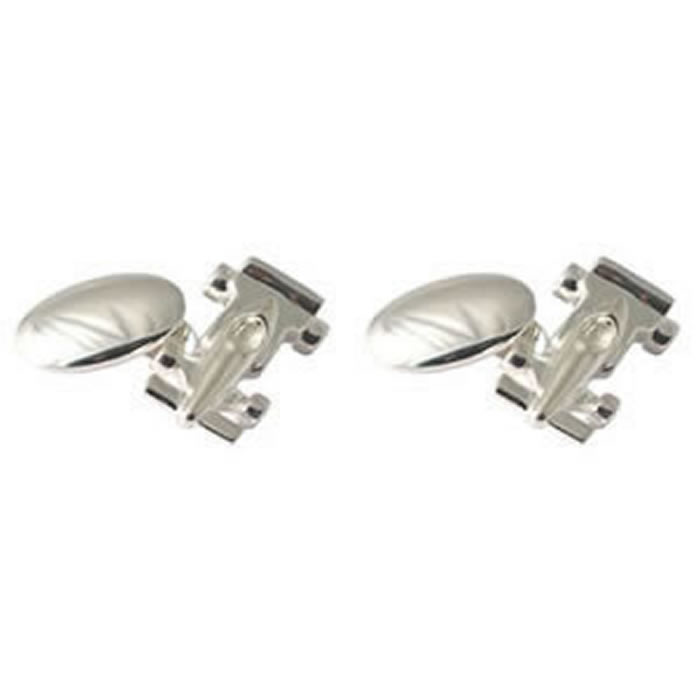 Sterling Silver Formula 1 Racing Car Cufflinks