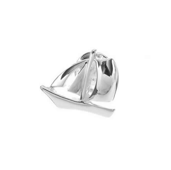 Sterling Silver Boat Pin