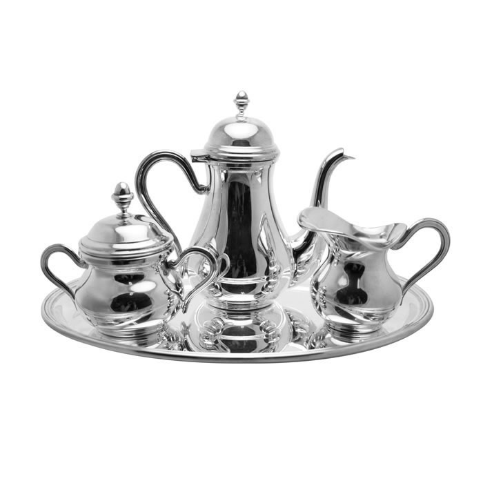 Sterling Silver Plain Coffee Set