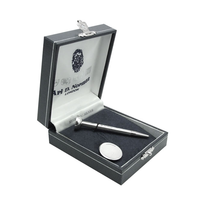 Sterling Silver Golf Ball Marker Long Tee Set