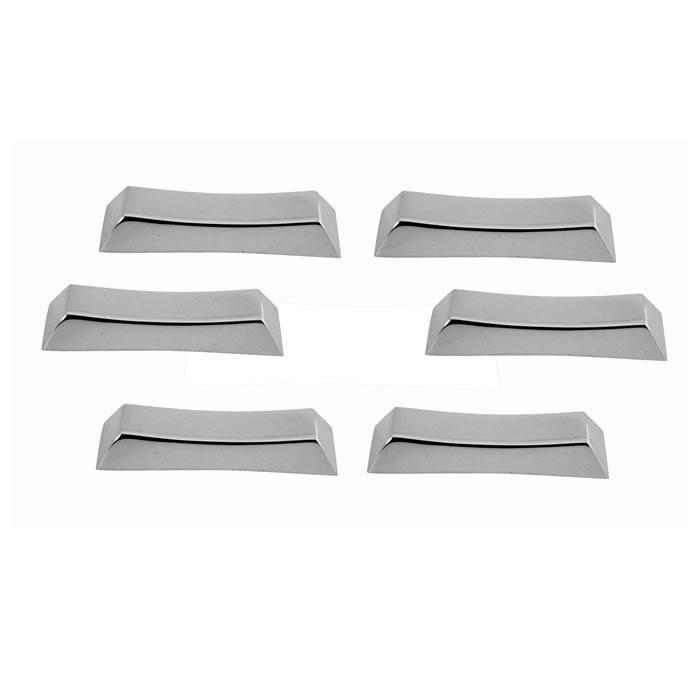Sterling Silver Set Of Six Plain Chopstick Rests