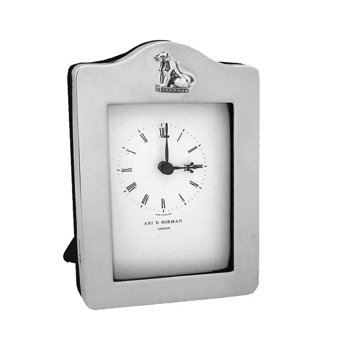 Sterling Silver Windsor Collection Sitting Panther Clock