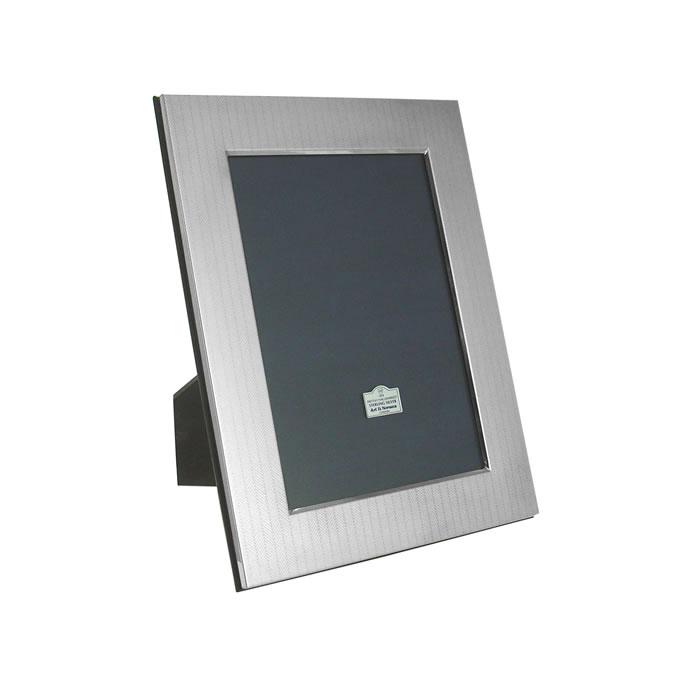 Sterling Silver 5X5 Herringbone Style Photo Frame