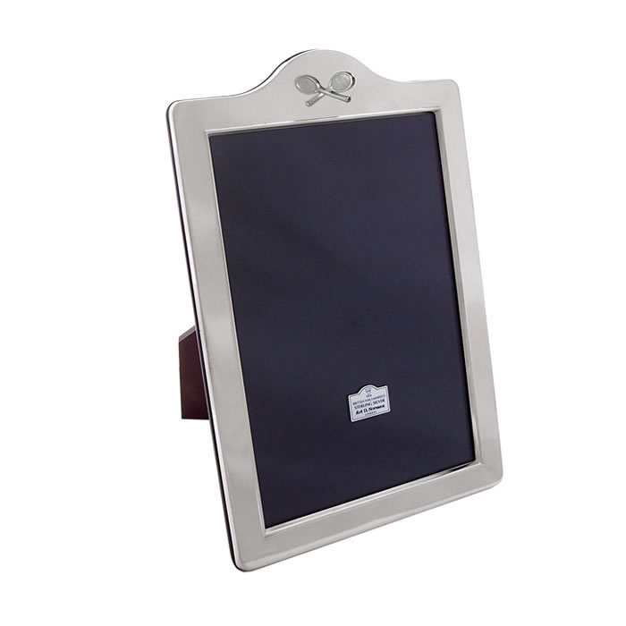 Sterling Silver 18X13cm Portrait Tennis Photo Frame