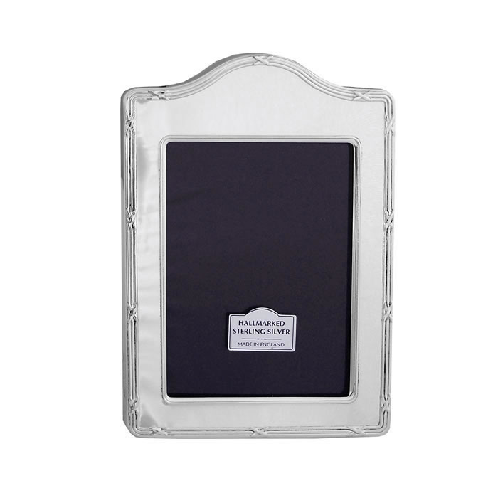 Sterling Silver Reed And Ribbon Arched 9X6cm Photo Frame