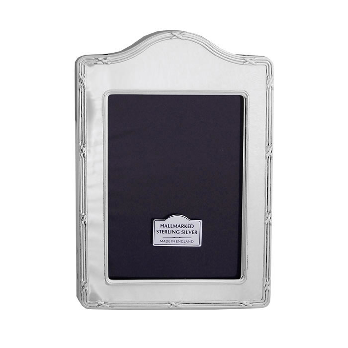 Sterling Silver Reed And Ribbon Arched 6X4 Inch Photo Frame