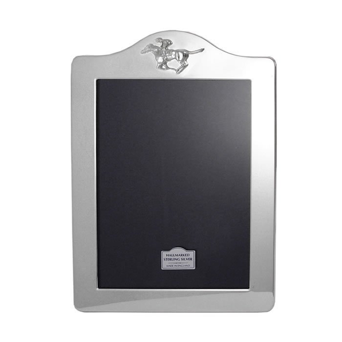 Sterling Silver 14X10cm Portrait Horse Racing Photo Frame