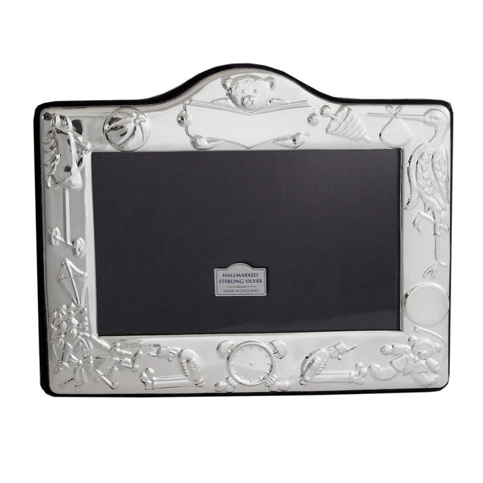 Sterling Silver Christening Day 9X13cm Photo Frame