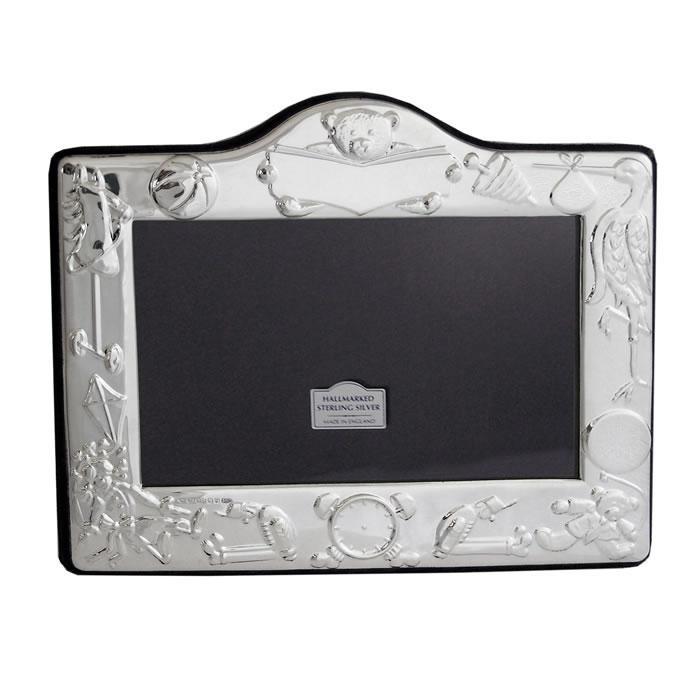Sterling Silver Christening Day 9X13cm Photo Frame