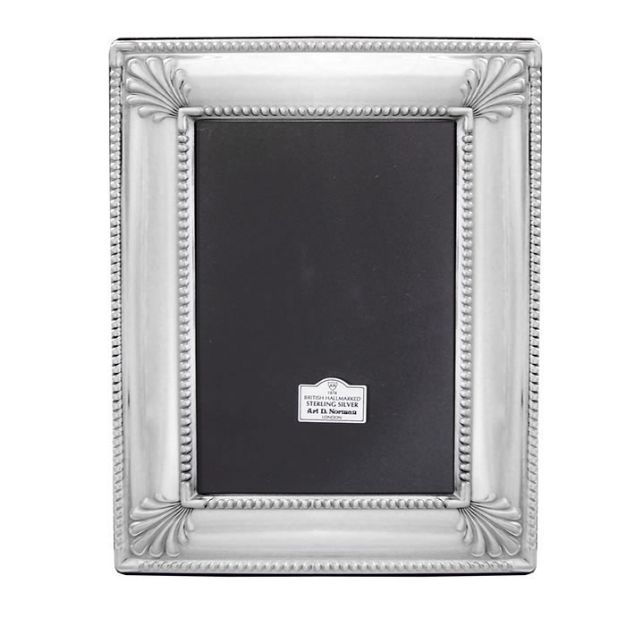 Sterling Silver 9X6cm Art Deco Style Photo Frame