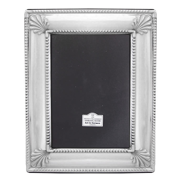 Sterling Silver 13X9cm Art Deco Style Photo Frame