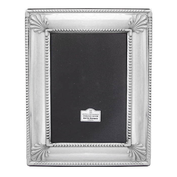 Sterling Silver 7X5 Inch Art Deco Style Photo Frame
