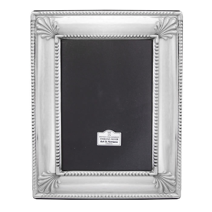 Sterling Silver 6X4 Inch Art Deco Style Photo Frame