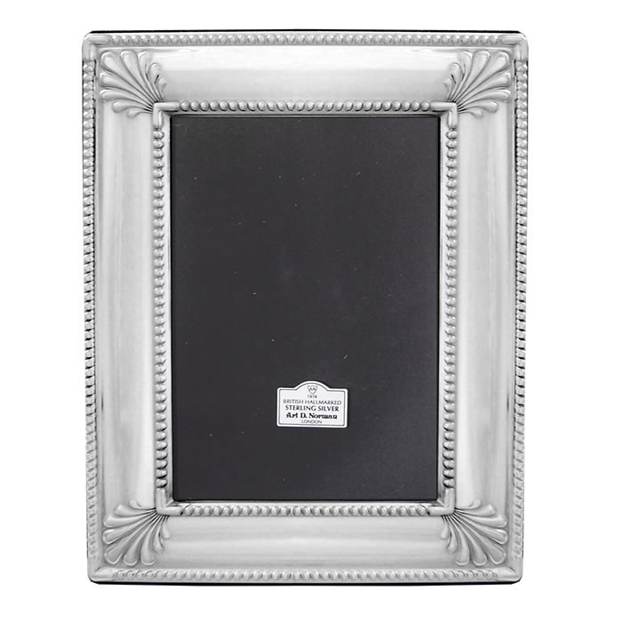 Sterling Silver 10X8 Inch Art Deco Style Photo Frame