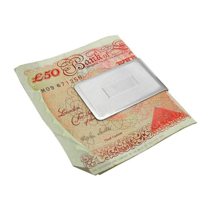 Sterling Silver Barley Money Clip