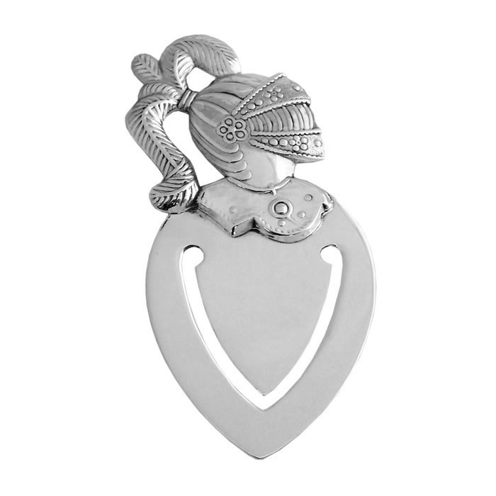 Sterling Silver English Knight Bookmark